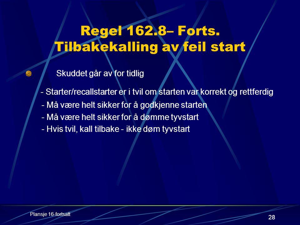 28 Regel 162.8– Forts.