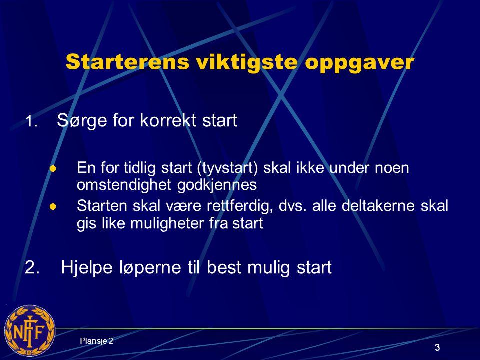 3 Starterens viktigste oppgaver 1.