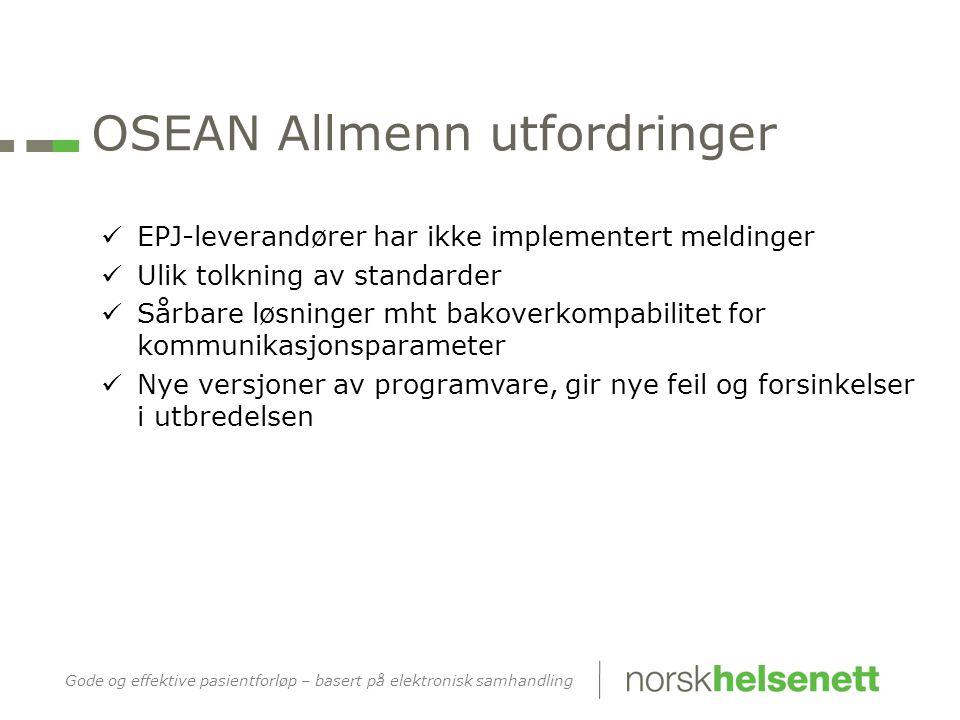 OSEAN HF status  Alle HF er klare med sine løsninger i januar/februar 2013  Unntak: OUS Bunntekst5