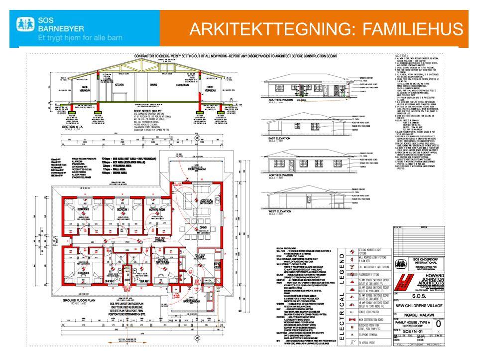 ARKITEKTTEGNING: FAMILIEHUS