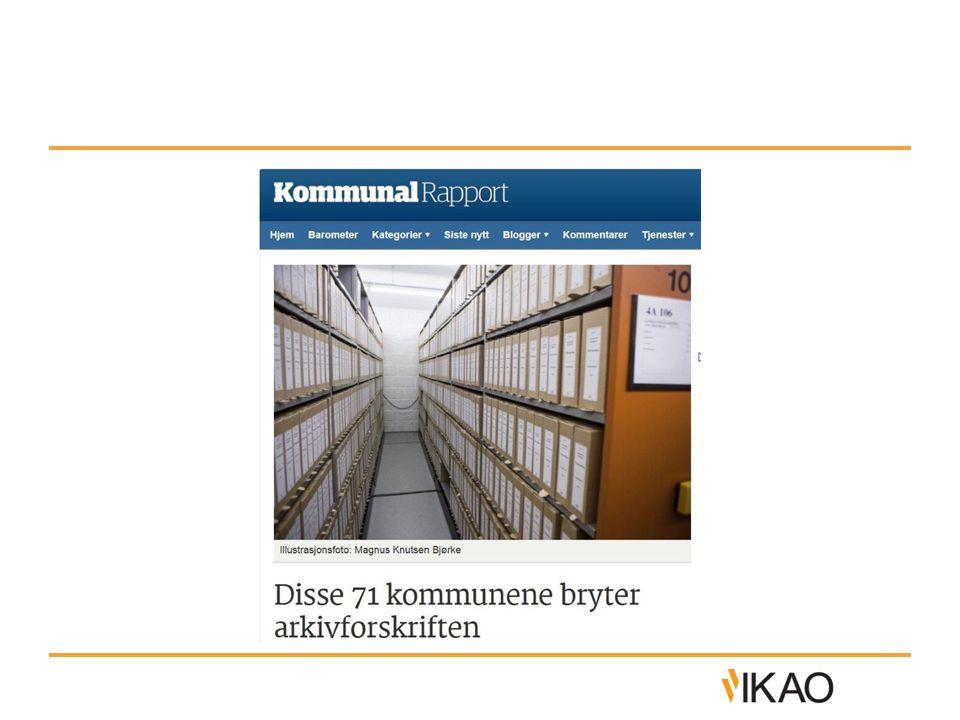 Arkivforskriften §3-12 • Arkivplanen skal inneholde beskrivelse av avvik fra «vanlig periodisering», som kan legges inn på serienivå i arkivplan.no