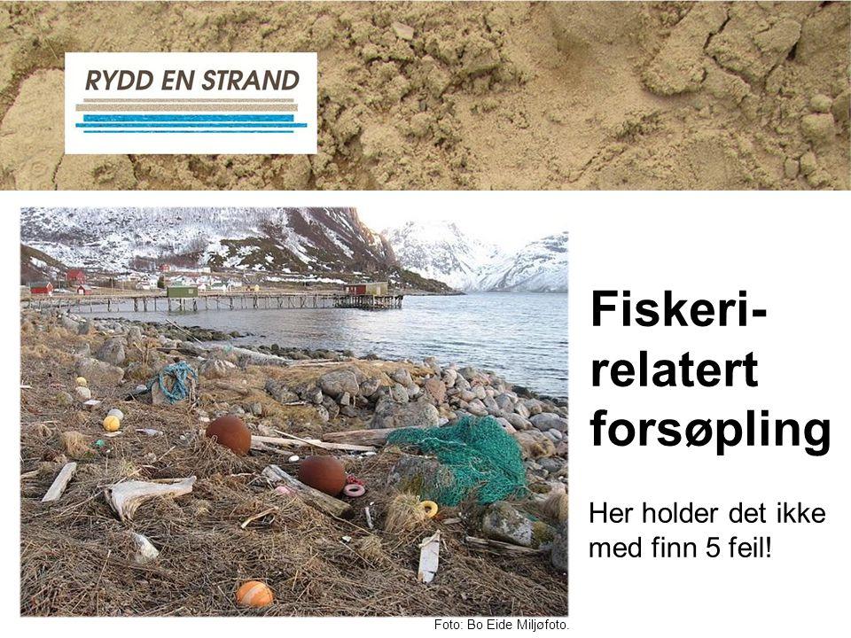 Fiskeri- relatert forsøpling Foto: Bo Eide Miljøfoto. Her holder det ikke med finn 5 feil!