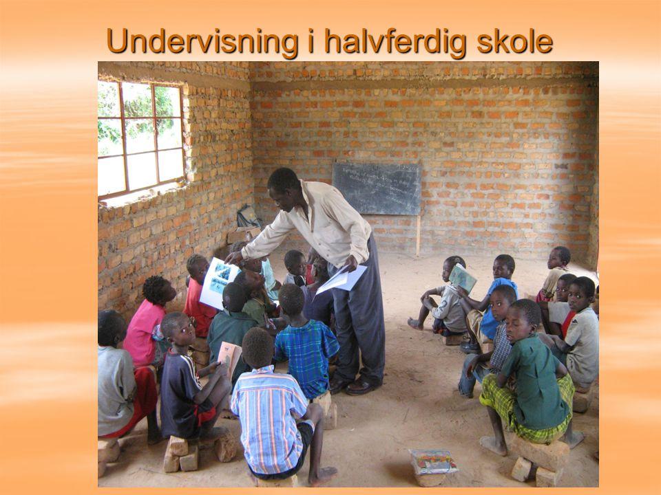 Undervisning i halvferdig skole