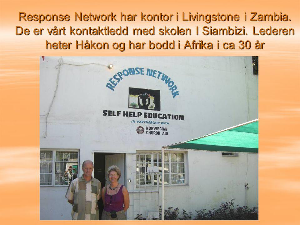 Response Network har kontor i Livingstone i Zambia.