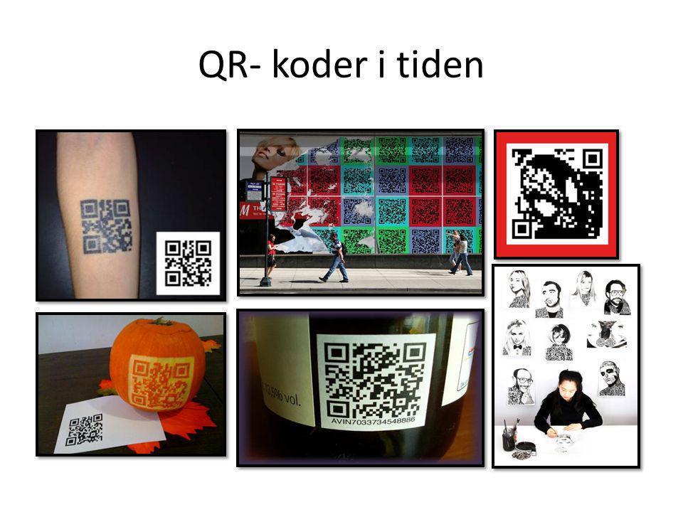 QR- koder i tiden