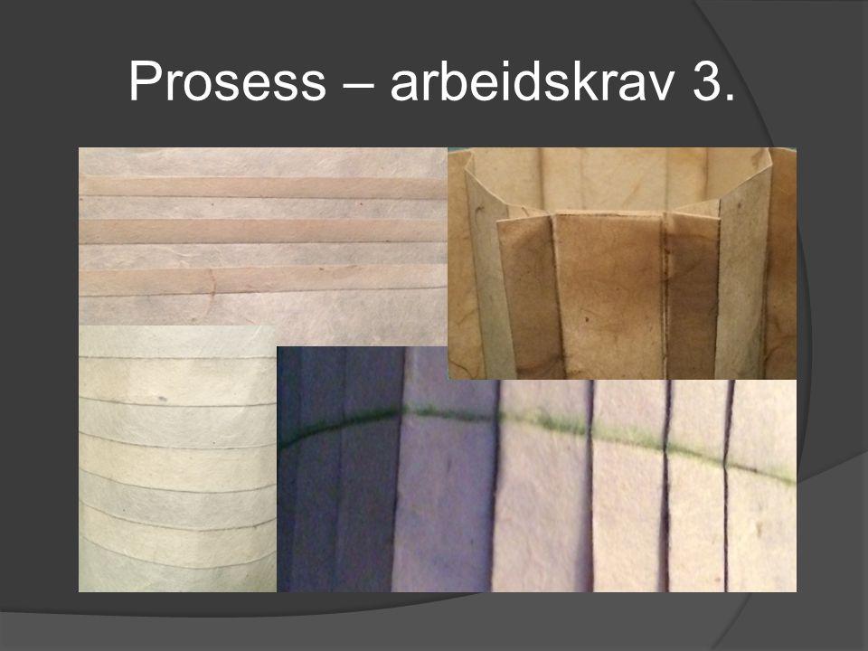 Prosess – arbeidskrav 3.