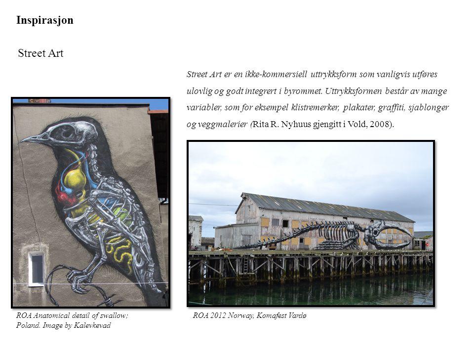 Inspirasjon Street Art ROA 2012 Norway, Komafest VardøROA Anatomical detail of swallow; Poland. Image by Kalevkevad Street Art er en ikke-kommersiell
