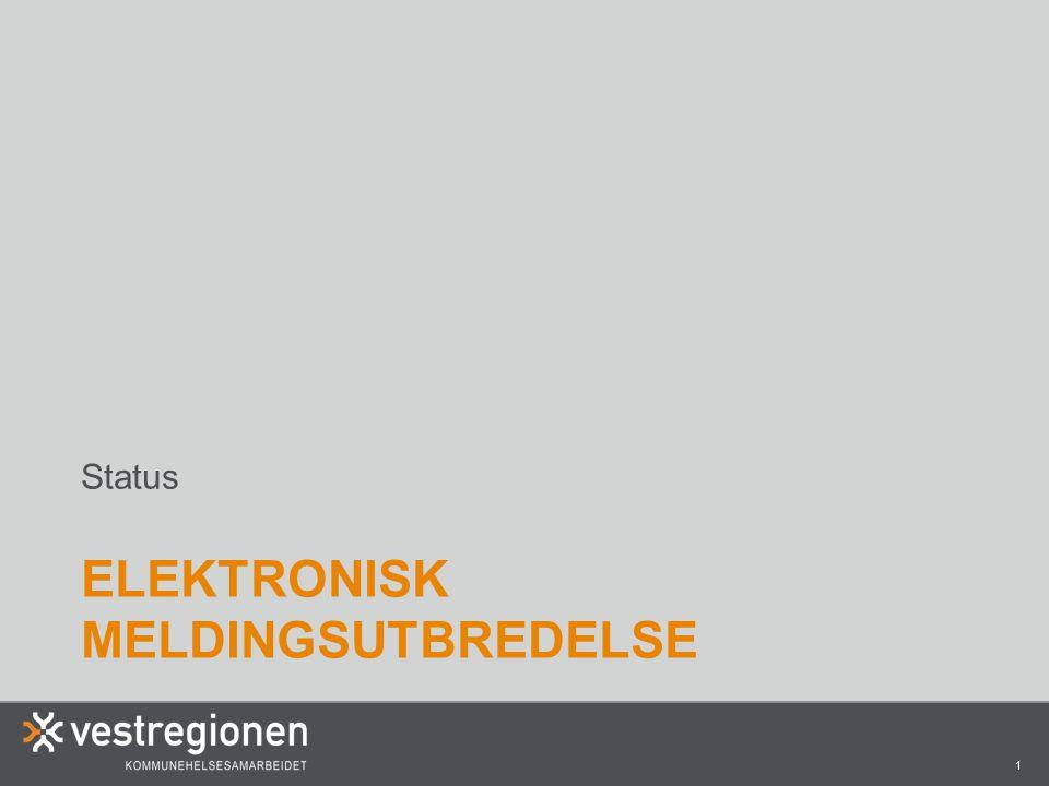 2 MELDINGER MELLOM KOMMUNE OG SYKEHUS •Full produksjon på Drammen og Bærum sykehus med tilhørende kommuner (Bærum kommune kommer med i 2015) •Kongsberg sykehus går i produksjon 10.