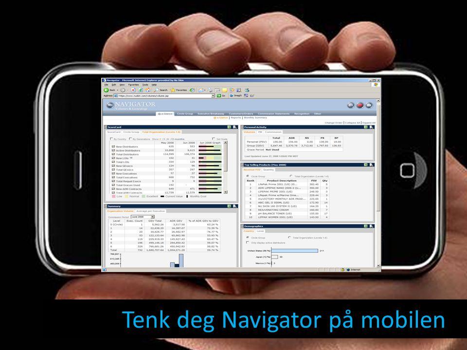 Tenk deg Navigator på mobilen