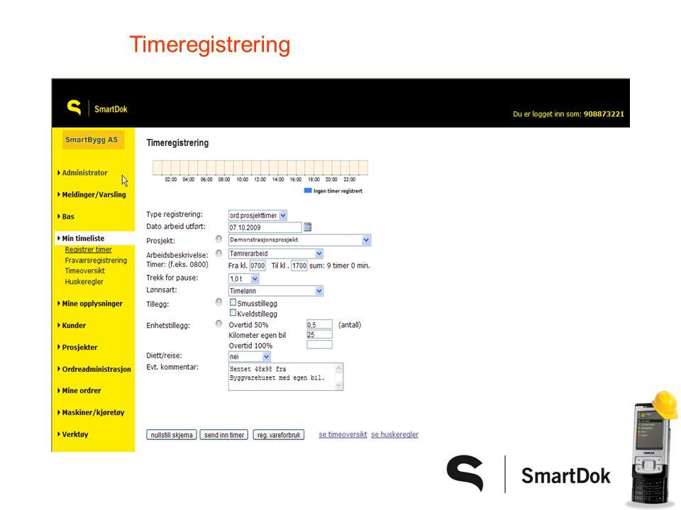 Timeregistrering