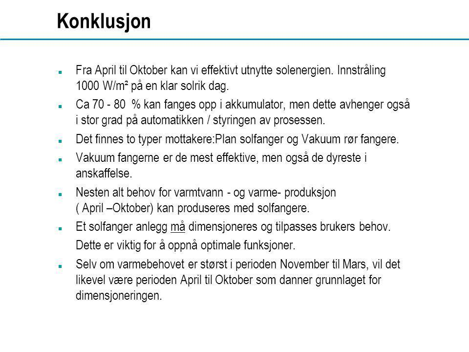 www.dahl.no Konklusjon  Fra April til Oktober kan vi effektivt utnytte solenergien.