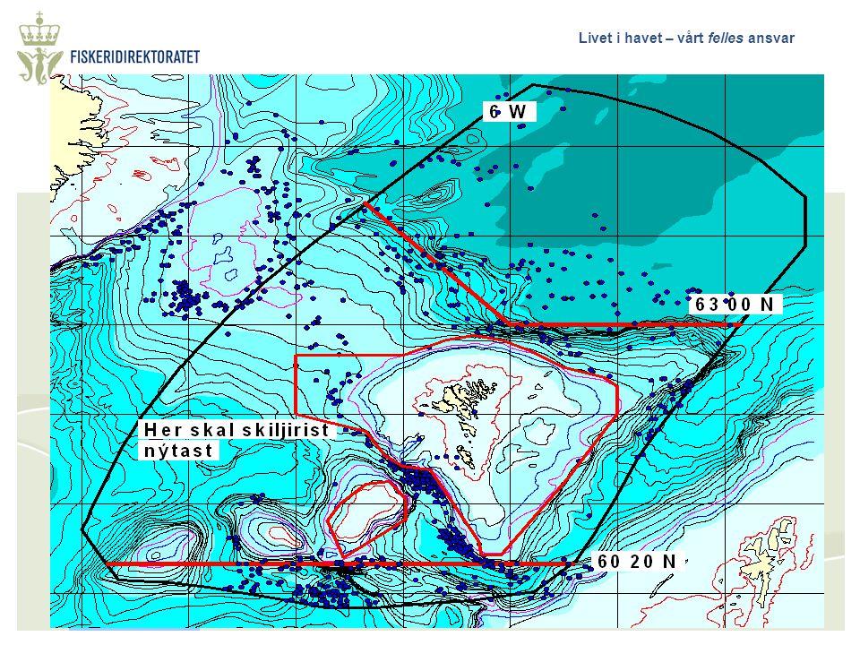 Livet i havet – vårt felles ansvar Bestemmelser om stengte felt for fiske etter kolmule og regler om bruk av sorteringsrist  Færøyene  Island  Anne