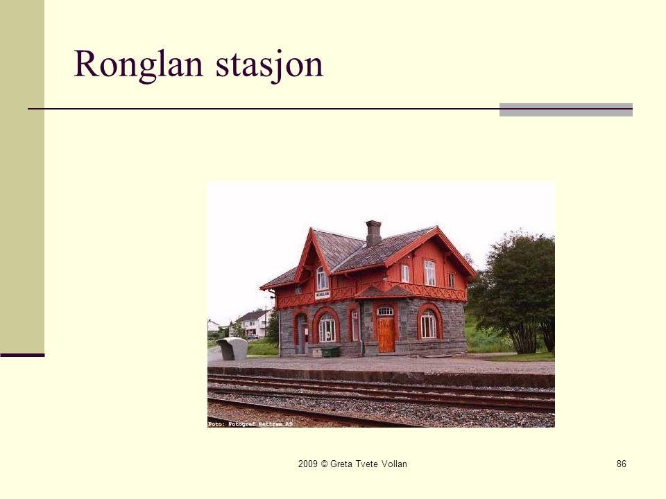 2009 © Greta Tvete Vollan86 Ronglan stasjon