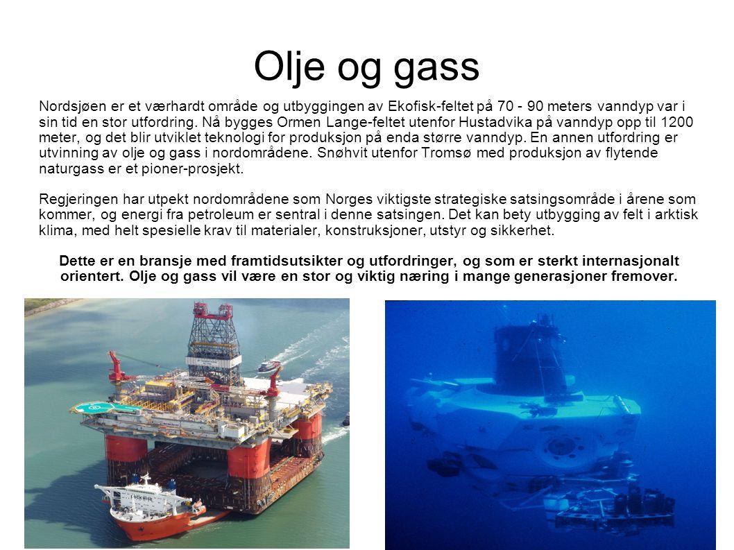Olje og gass Nordsjøen er et værhardt område og utbyggingen av Ekofisk-feltet på 70 - 90 meters vanndyp var i sin tid en stor utfordring.