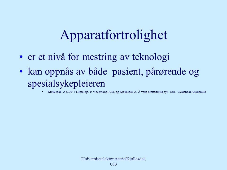 Universitetslektor Astrid Kjøllesdal, UiS Teknologien •Bringer sykepleieren tilbake til pasienten – true nursing •Pasienten ønsker dyktige tekniske omsorgspersoner •Sykepleie som omsorg er fundamentet for at vi kan snakke om teknologisk kompetanse som omsorg.