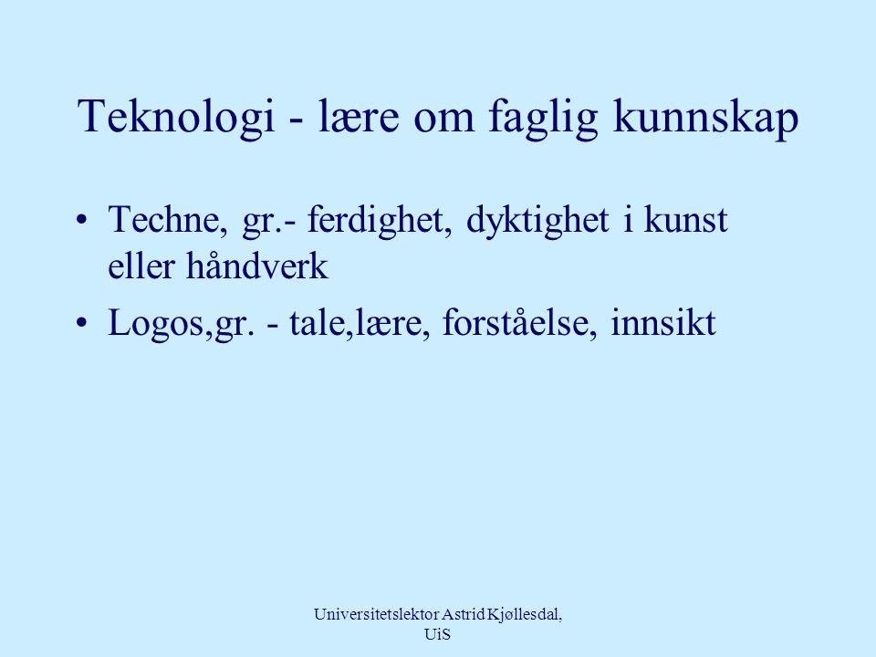 Universitetslektor Astrid Kjøllesdal, UiS Disposisjon •Innledning •Teknologi •Omsorg •Kontekst •Kompetanse •Teknologisk kompetanse og omsorgskompetanse