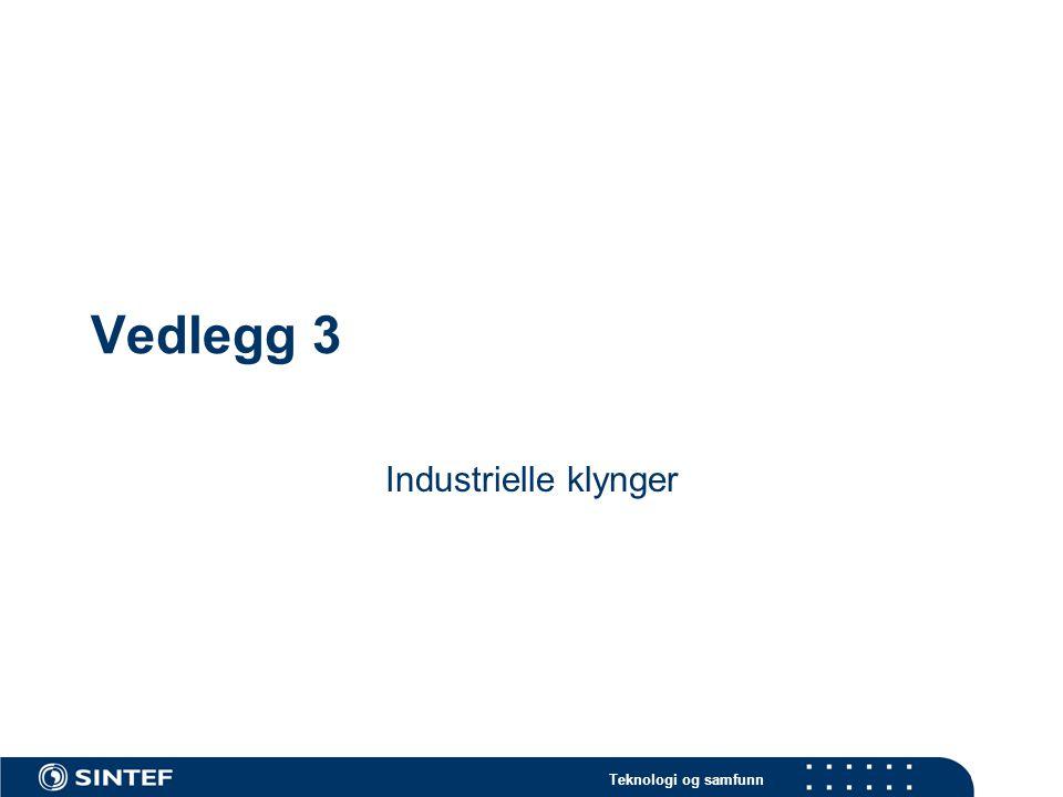 Teknologi og samfunn Vedlegg 3 Industrielle klynger