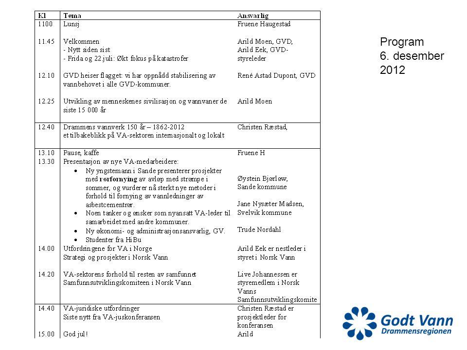 Program 6. desember 2012