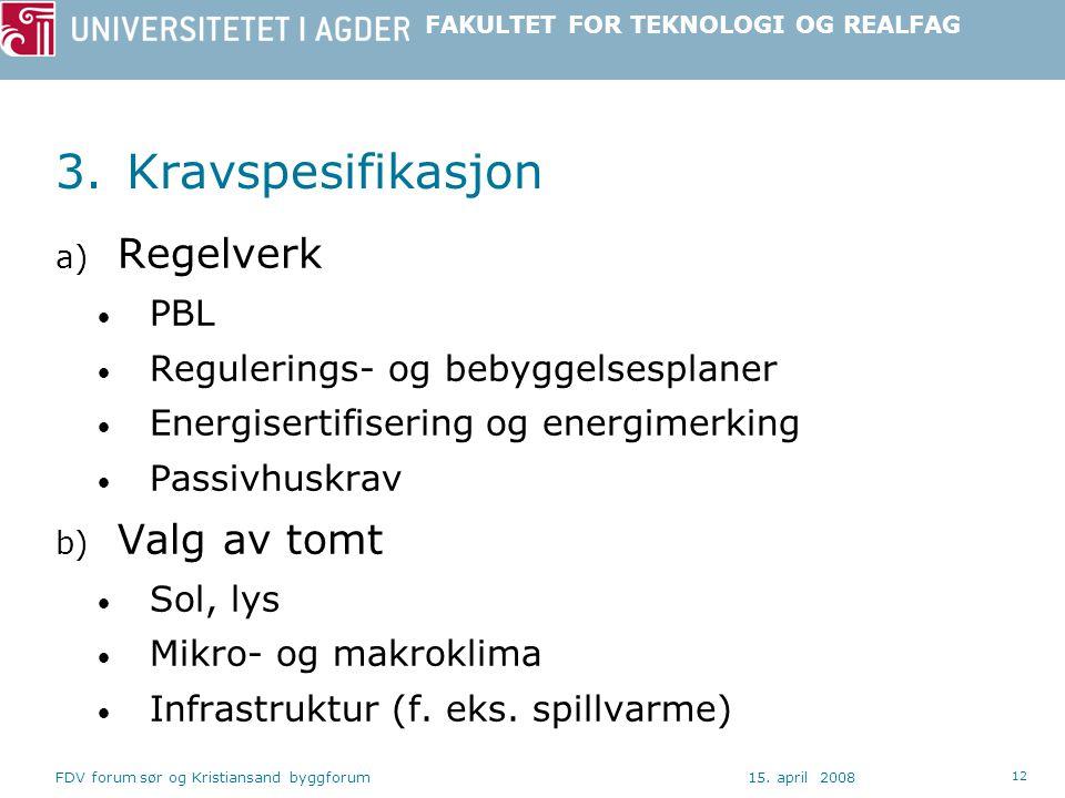 FAKULTET FOR TEKNOLOGI OG REALFAG 15.