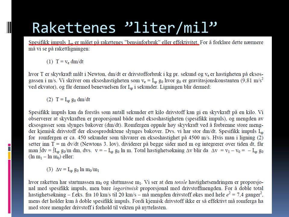 "Rakettenes ""liter/mil"""