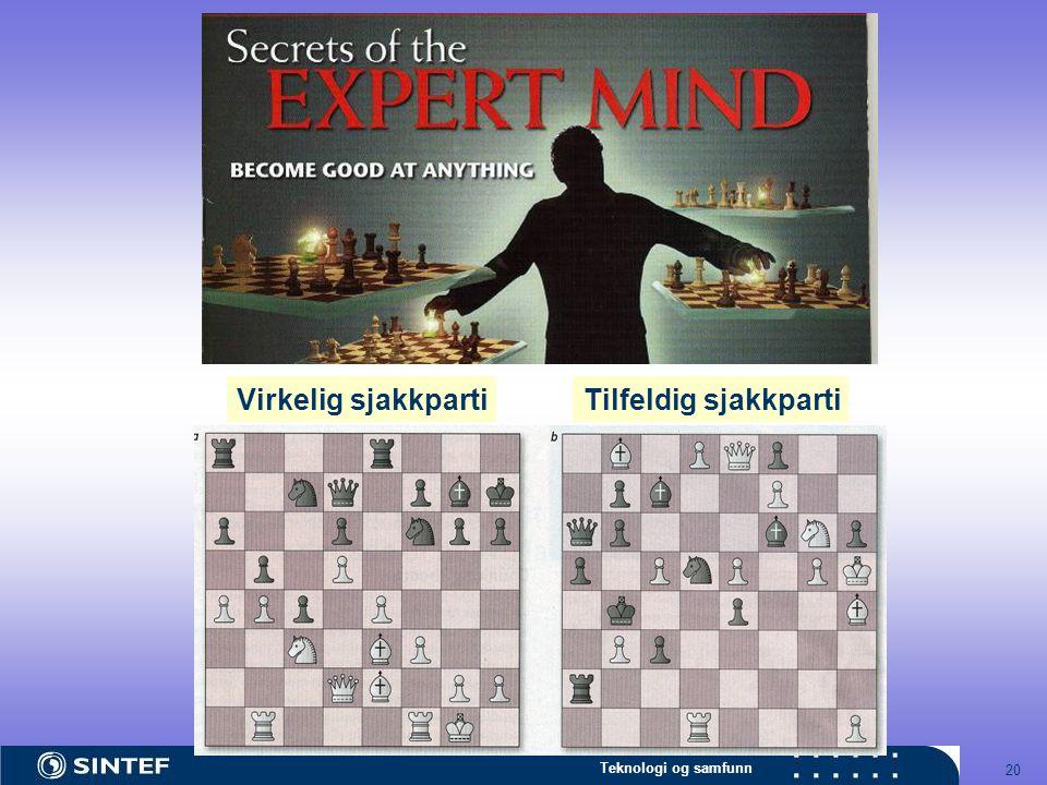 Teknologi og samfunn 20 Virkelig sjakkpartiTilfeldig sjakkparti