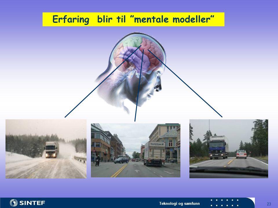 """Teknologi og samfunn 23 Erfaring blir til """"mentale modeller"""""""