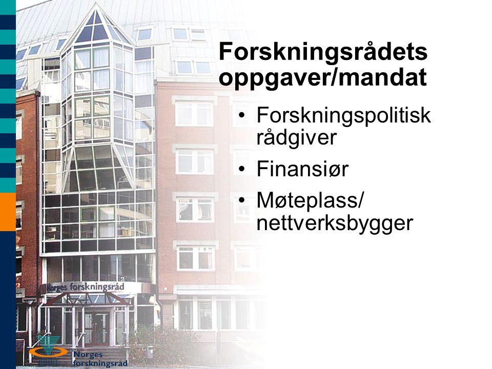Perspektivene framover – norske utfordringer •Ubrukte forskningstalenter •Den fremtidige verdiskapingen •En bedre offentlig sektor •Svakheter i forskningssystemet •En fragmentert forskningspolitikk