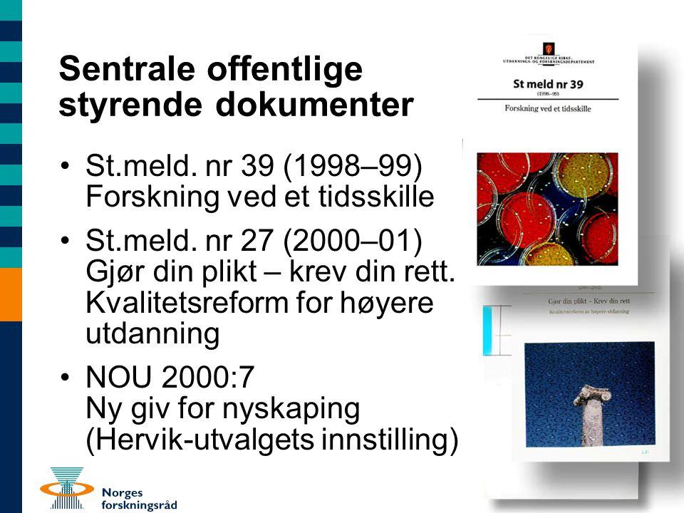 Mål II Et godt forskningssystem Innen utløpet av 2010 •Vesentlig styrket konkurranseevne i det norske forskningssystemet –Indikatorer...