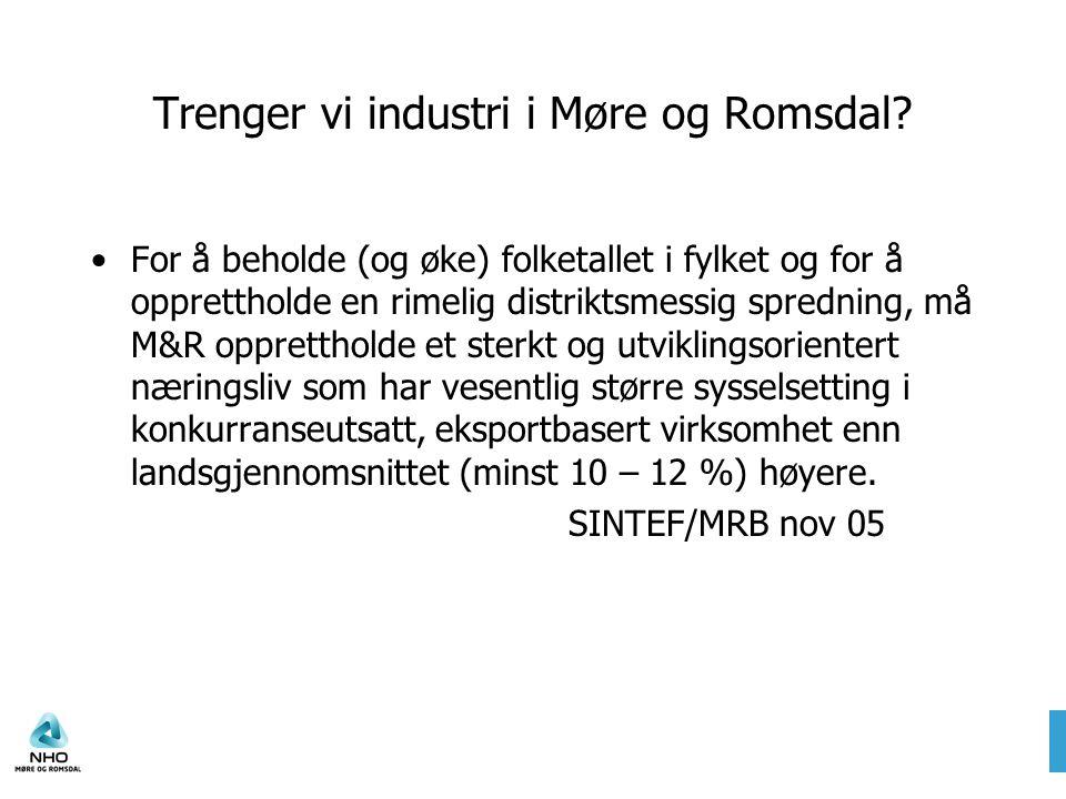 Trenger vi industri i Møre og Romsdal.