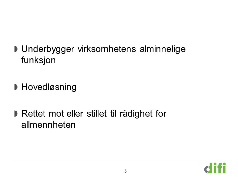 Offentlige føringer Fornyings-, administrasjons- og kirkedepartementet (FAD).