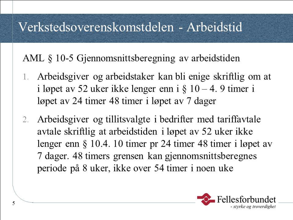 16 Tekodelen – Kapitel III - Arbeidstidsbestemmelser § 3.1Dagtidsarbeid Se også Fellesdelen § 5.1  Forhandle om inndelingen av arbeidstiden.