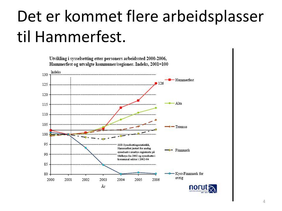 Det er kommet flere arbeidsplasser til Hammerfest. 4