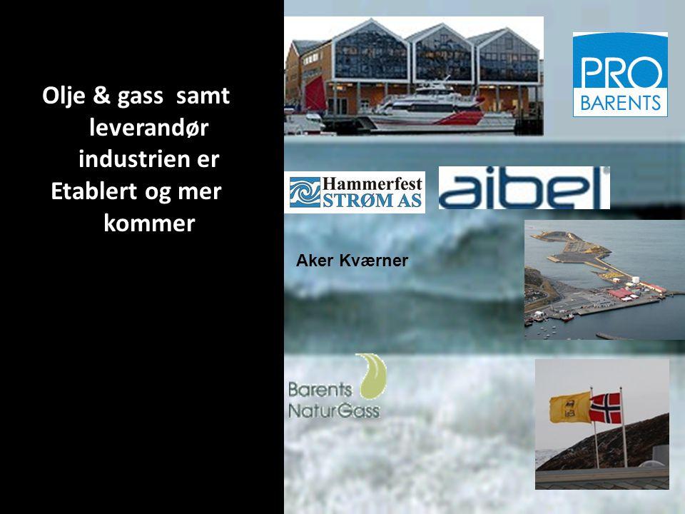 Olje & gass samt leverandør industrien er Etablert og mer kommer Aker Kværner