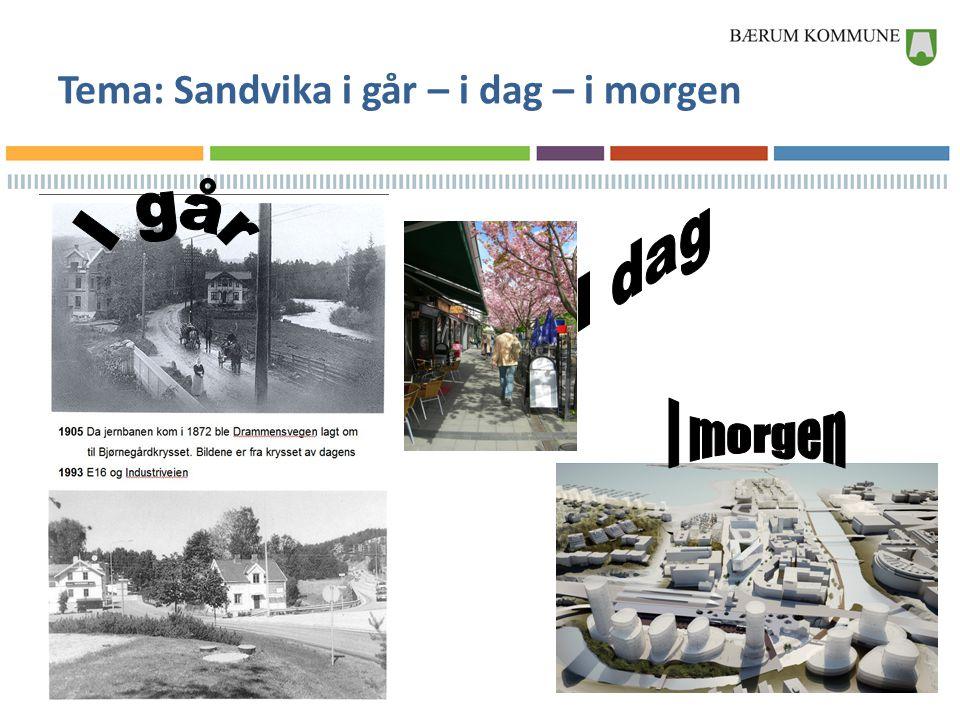 Tema: Sandvika i går – i dag – i morgen