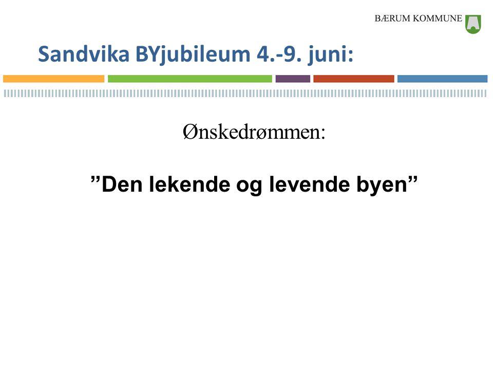 """Sandvika BYjubileum 4.-9. juni: Ønskedrømmen: """"Den lekende og levende byen"""""""