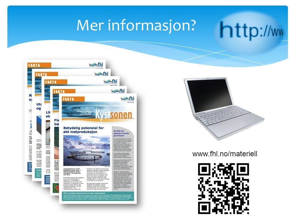 Mer informasjon? www.fhl.no/materiell