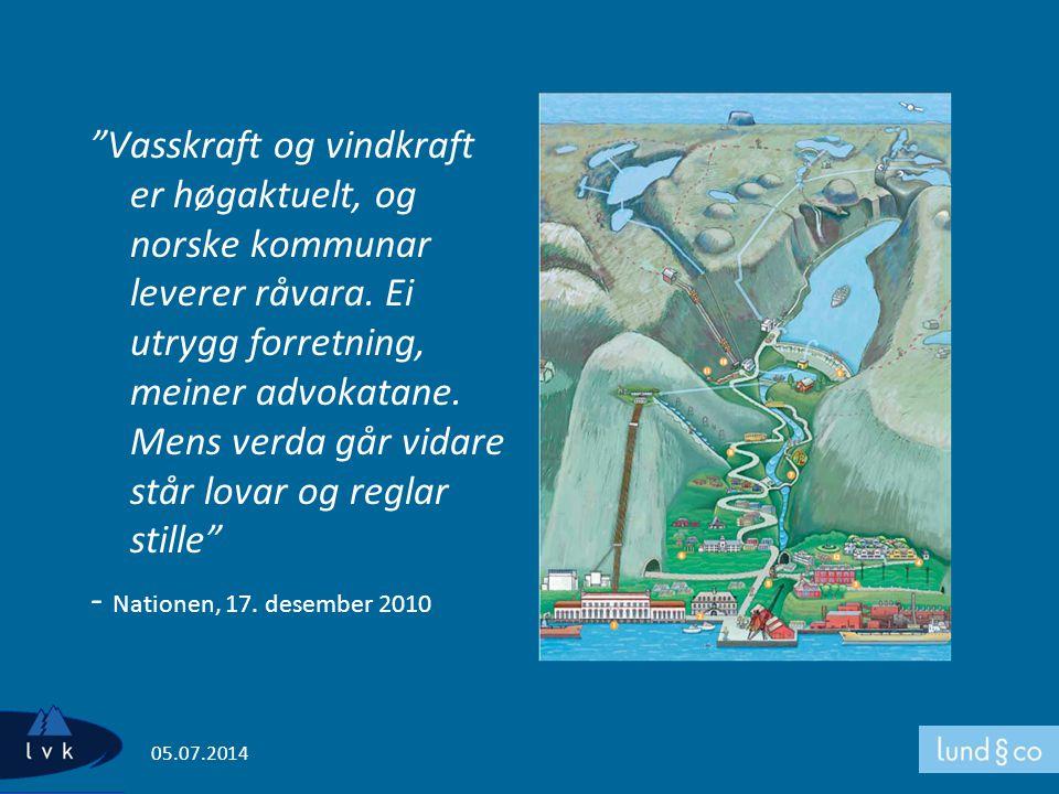 """Vasskraft og vindkraft er høgaktuelt, og norske kommunar leverer råvara. Ei utrygg forretning, meiner advokatane. Mens verda går vidare står lovar og"