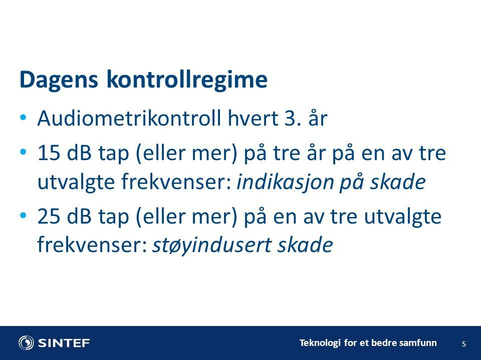 Teknologi for et bedre samfunn • Audiometrikontroll hvert 3.