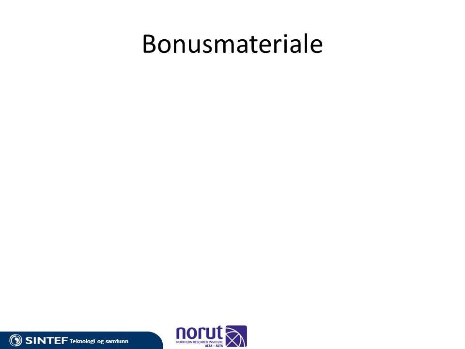 Teknologi og samfunn Bonusmateriale