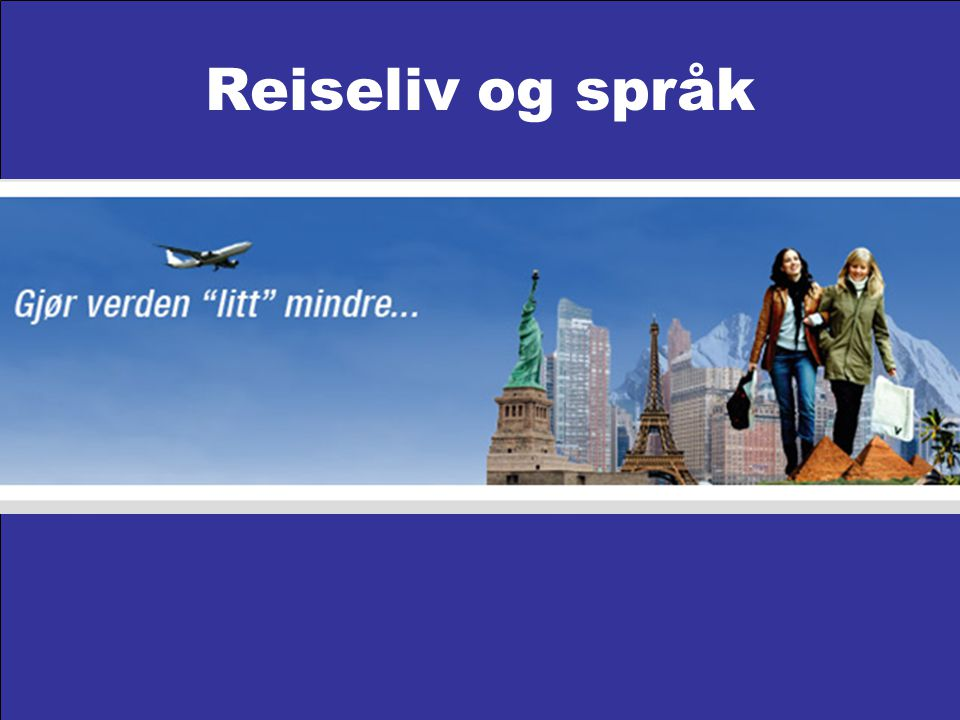 Reiseliv og språk
