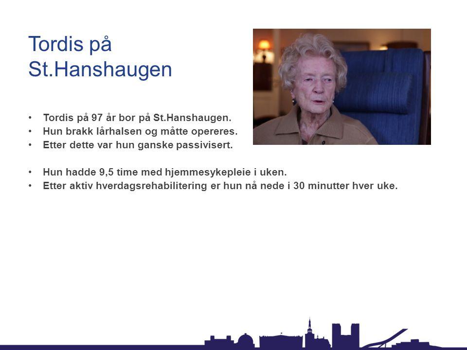 Tordis på St.Hanshaugen •Tordis på 97 år bor på St.Hanshaugen.