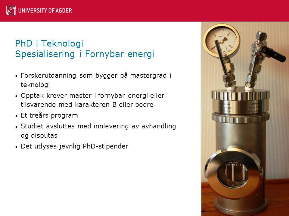 PhD i Teknologi Spesialisering i Fornybar energi • Forskerutdanning som bygger på mastergrad i teknologi • Opptak krever master i fornybar energi eller tilsvarende med karakteren B eller bedre • Et treårs program • Studiet avsluttes med innlevering av avhandling og disputas • Det utlyses jevnlig PhD-stipender 10