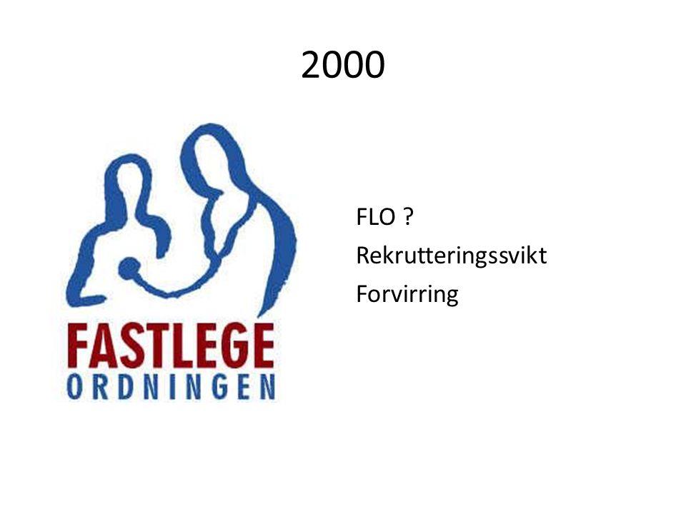 2000 FLO ? Rekrutteringssvikt Forvirring