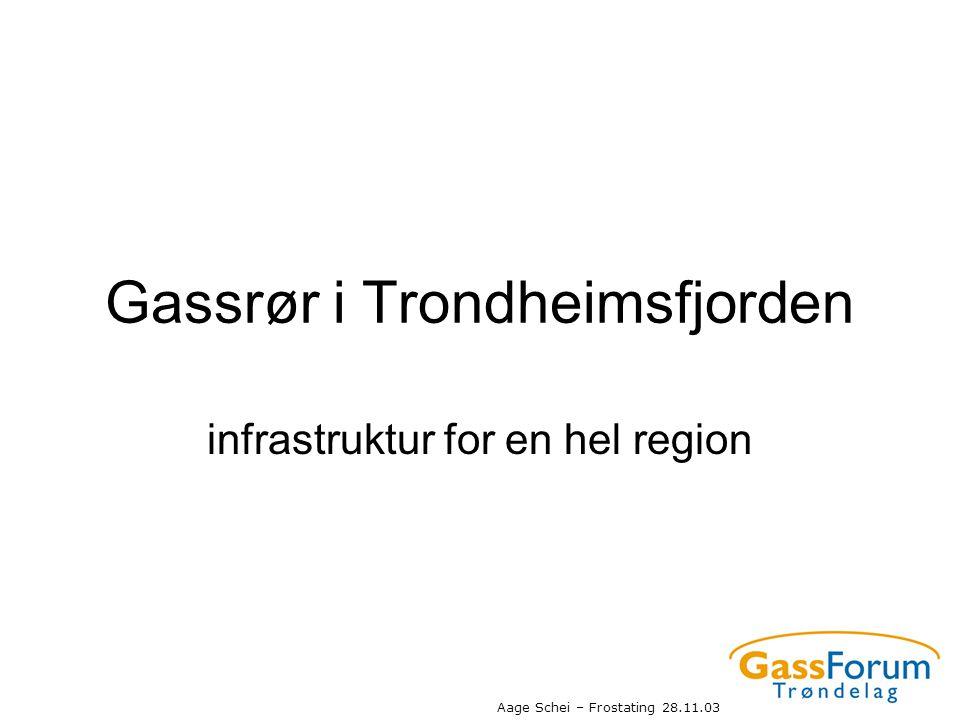 Aage Schei – Frostating 28.11.03 Gassrør i Trondheimsfjorden infrastruktur for en hel region