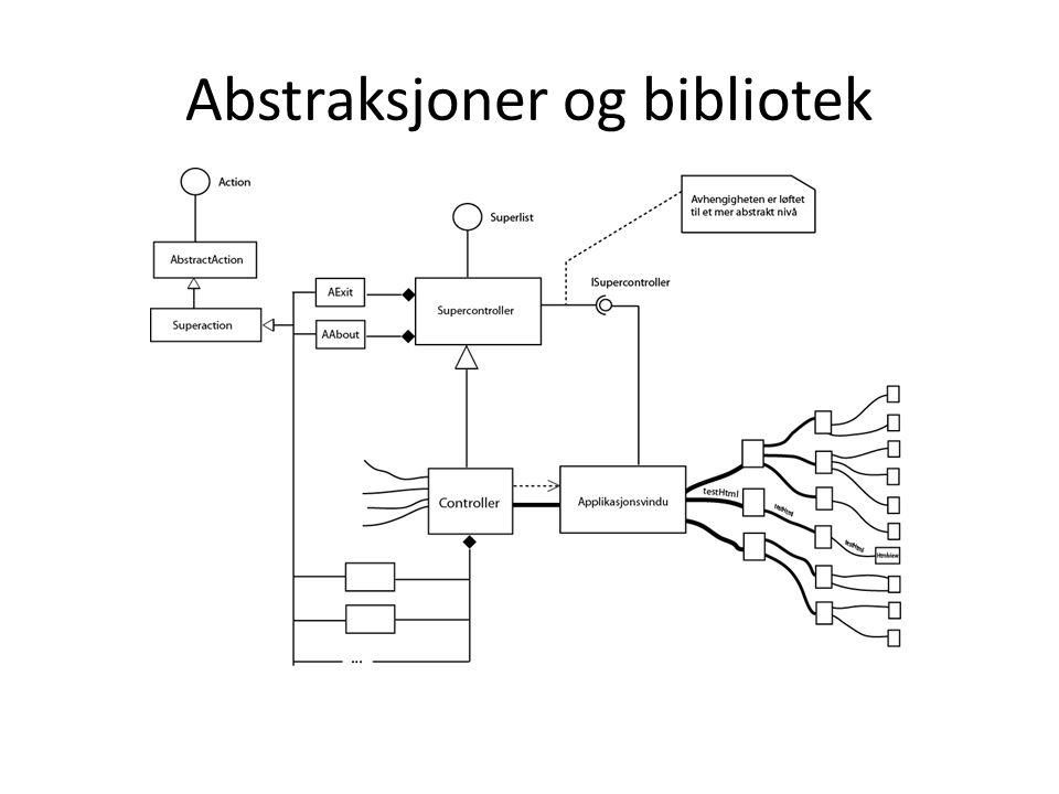 Abstraksjoner og bibliotek