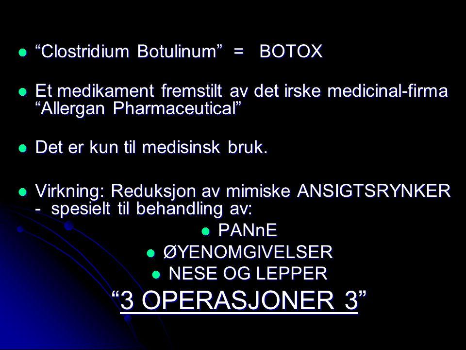  BOTOX innsprøytes ved hjelp av en kanyle - 0,2 ml pr behandling.
