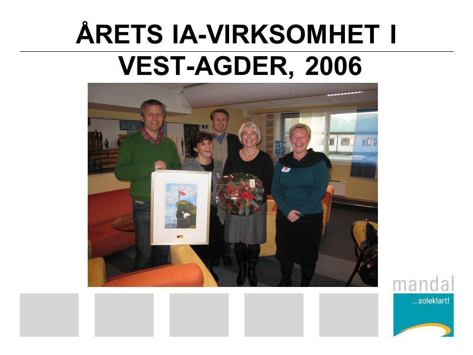 ÅRETS IA-VIRKSOMHET I VEST-AGDER, 2006