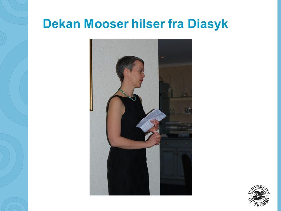 soerbye@diakonhjemmet.no Dekan Mooser hilser fra Diasyk
