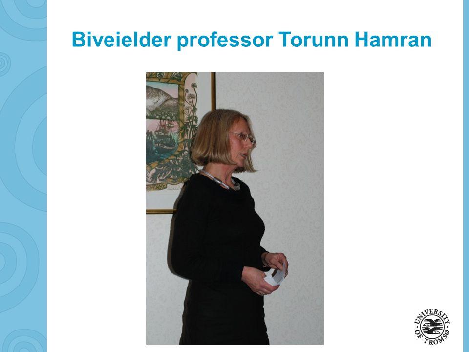 soerbye@diakonhjemmet.no Biveielder professor Torunn Hamran