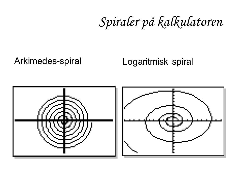 Logaritmisk spiral Arkimedes-spiral Spiraler på kalkulatoren